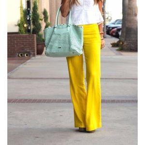 Banana Republic Yellow Linen Blend Pants